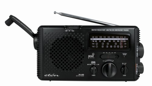 Eton FR400 Hand Crank Radio and Power Generator (Black)