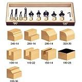 Timberline TRS-170 1/2 Shank Starter Router Bit Set, 11-Piece