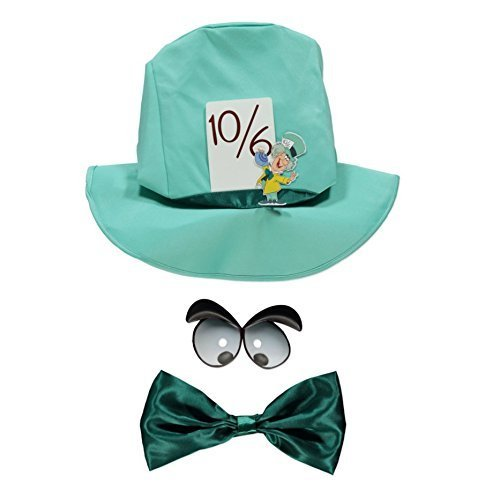 Disney Mad Hatter fancy dress accessories Hat, Bow Tie and Eyes for Teenagers / Adults Officially licensed by Disney, Made for George