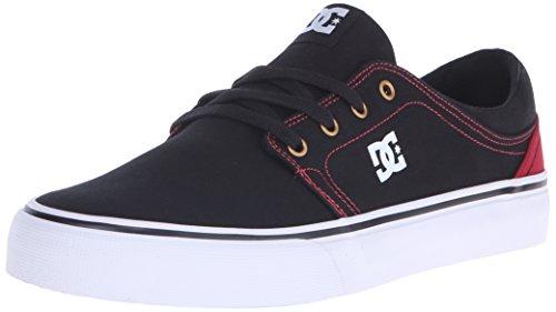 DC Trase TX Skate Shoe, Black/Red, 10 M US