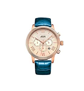 JEDIR ML2012GBE-3 Fashion Design Quartz waterproof Watch with Leather Watchband.