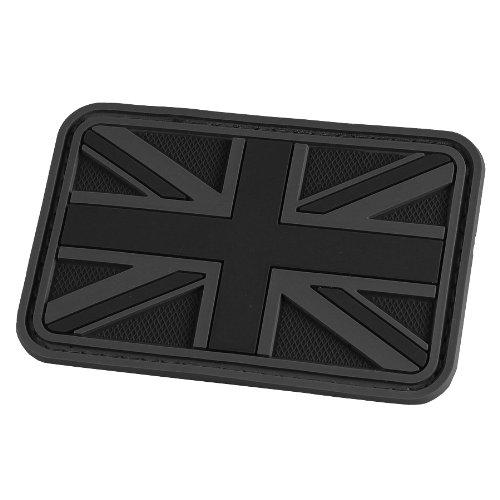 Hazard 4 3D Union Jack Flag UK Morale toppa Nero