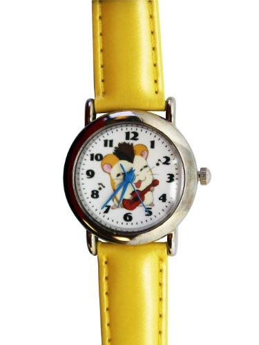 Yellow Leather Band Hamtaro Watch - Hamtaro Kids Watch