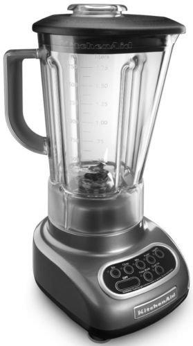 Kitchenaid Liquid Graphite 5-speed Blender Ksb560qg Unbreakable Jar Polycarbonte