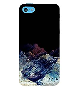 printtech Nature View Mountains Back Case Cover for Apple iPhone 5C