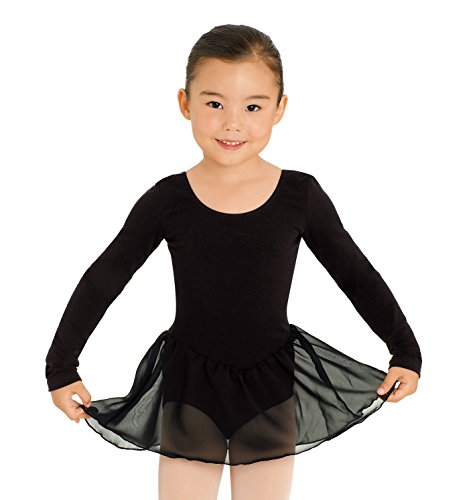 Child Long Sleeve Dress,Cl5309Blkt,Black,Toddler front-607165