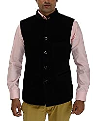 Panache Velvet Men's Nehru Jacket (Black,38)