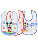 Mickey Mouse Star of the Show 3-Pack Bibs
