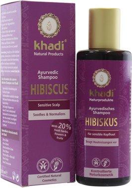 Khadi Shampoo Ibisco Rigenerante Anti Caduta Volumizzante Pelle Sensibile