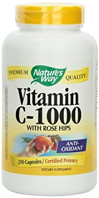 Nature's Way Vitamin C 1000 with Rose Hips, 750 Capsules Pack(6do5nz)