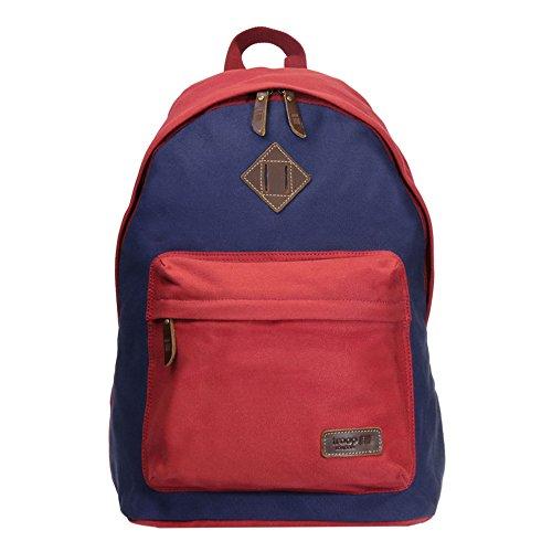 trp0384-troop-london-heritage-lienzo-mochila-casual-daypack-mujer-nina-nino-hombre-unisex-rojo-azul-