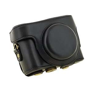 TARION® Étui/couverture/housse/sac de protection en cuir PU pour appareil photo,camera numerique de sony dsc-hx50 v (Noir)