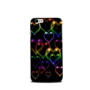 Mikzy Multicolour Hearts Printed Designer Back Cover Case for Iphone 6/6S