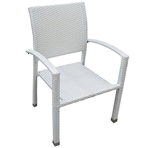 Bella Outdoor Wicker Dining Chair - White image