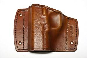 Gun Holster - Mountable - Ruger SR 40-Brown-Inside Glove Box (Palm up)
