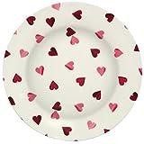Emma Bridgewater Pink Melamine Hearts Dinner / Picnic Plate
