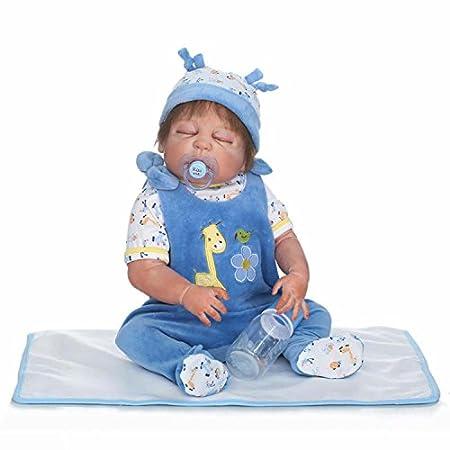 Terabithia 57cm Gentle Touch Alive Silicone en vinyle en plein corps endormi Nouveau née bébé Garçon Poupées