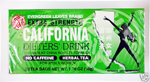 1 BOX CALIFORNIA DIETERS' DRINK EXTRA STRENGTH TEA 1.76 OZ