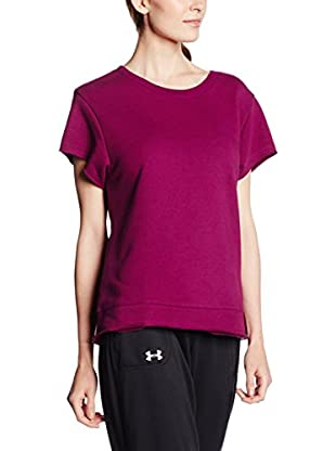Under Armour Camiseta Técnica Studio Boxy Crew (Magenta)