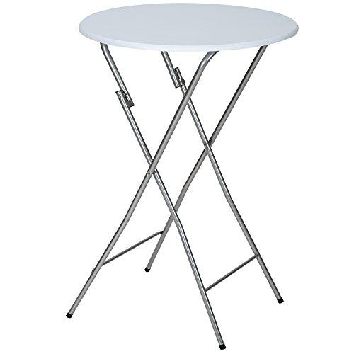 TecTake-Stabiler-Stehtisch-Bistrotisch-klappbar-weiss-Hhe-ca-110-cm-Tischplatte-ca-60-cm-