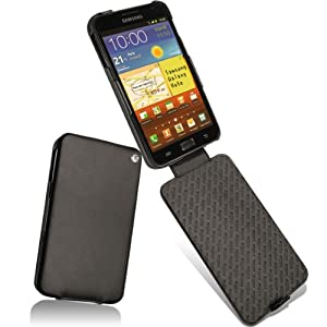 Noreve Tradition Soft Black Leather Elegant, Hand-made, Premium Protective Flip Carry Case Cover for Samsung Galaxy Note