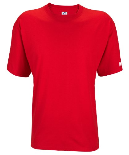 Russell Athletic Men's Basic T-Shirt, True Red, XXX-Large