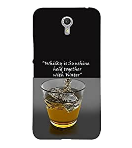 PrintVisa Quotes & Messages Whisky Sunshine 3D Hard Polycarbonate Designer Back Case Cover for LENOVO ZUK Z2 PRO