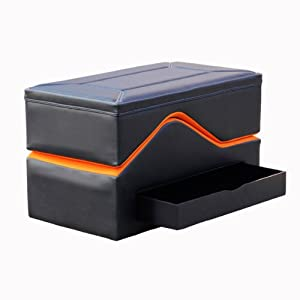Ace Bayou X Rocker No Sound Ottoman - Black Orange by X Rocker