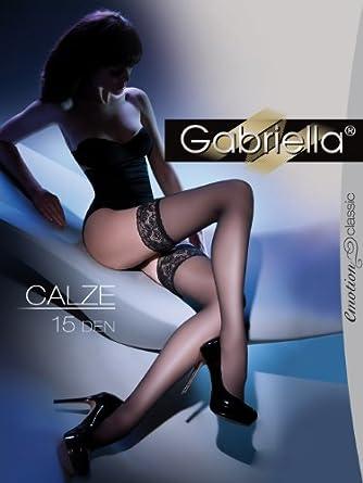 Gabriella Femmes Bas pour Porte-Jaretelles GB-200 15 DEN (Beige, 1/2 (32-38))