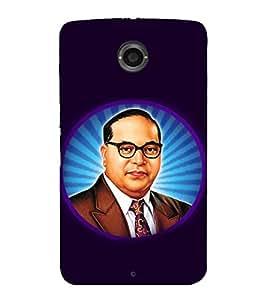 printtech BR Ambedkar Aura India Back Case Cover for Motorola Google Nexus 6