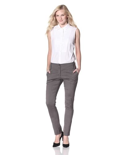 Byron Lars Women's Chain Link Herringbone Pant  [Nickel]