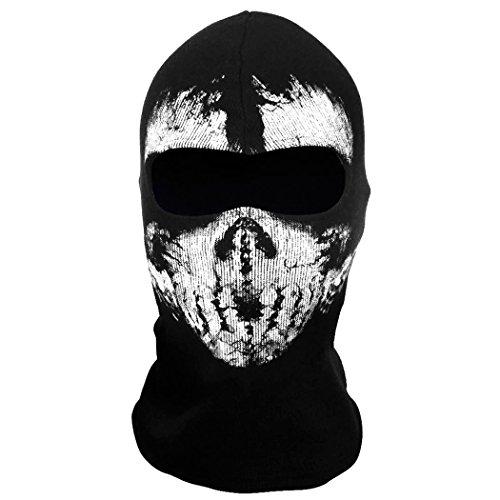 Call Of Duty Cod 10 Ghosts Logan Balaclava Ski Skull Hood: Coofit Balaclava Ski Face Mask Motorcycle Neck Warmer