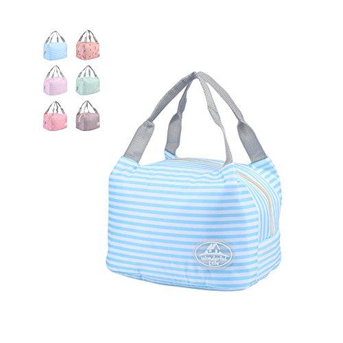 Vivor thermal insulation tote bag lunch bag, Borsa porta pranzo, impermeabile Borsetta bella borsa in tessuto poliestere stampa Pranzo al sacco Pranzo picnic sacchetto-Blu