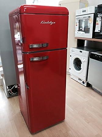 goldyz k hlschrank gefrierkombination retro hnlich ferrari rot rot ferrarirot a. Black Bedroom Furniture Sets. Home Design Ideas