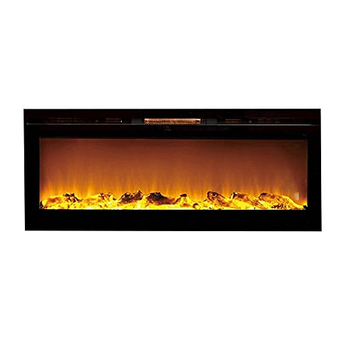 "Moda Burn 50"" Cynergy Log Built-in Smokeless Wall Mounted Electric Fireplace"