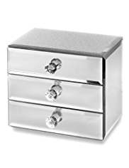 M&S Collection Glitter Diamanté 3 Drawer Jewellery Box