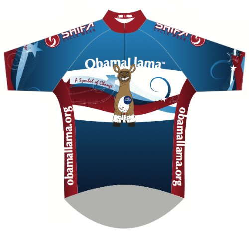 Image of Womens Cut ObamaLlama Cycling Jersey (B008XK4988)