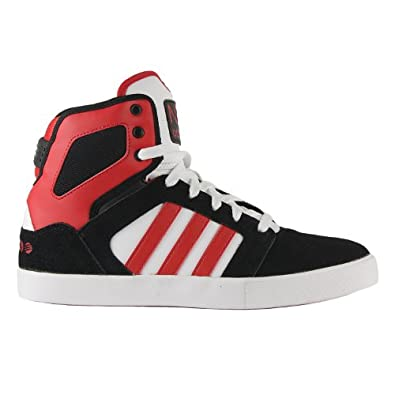 Amazon.com: Adidas NEO BBNeo Hitop Shoes - Black/White/Red