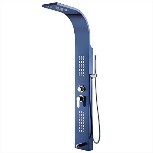 Exclusive Spectra Shower Panel Desks 90cm Wide Page Compact Frameless Sliding Bathtub Shower