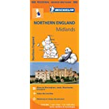 Carte Angleterre Nord, Midlands Michelin