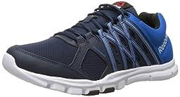 Reebok Men\'s Yourflex Train 8.0 L MT Training Shoe, Collegiate Navy/Blue Sport/White, 14 M US