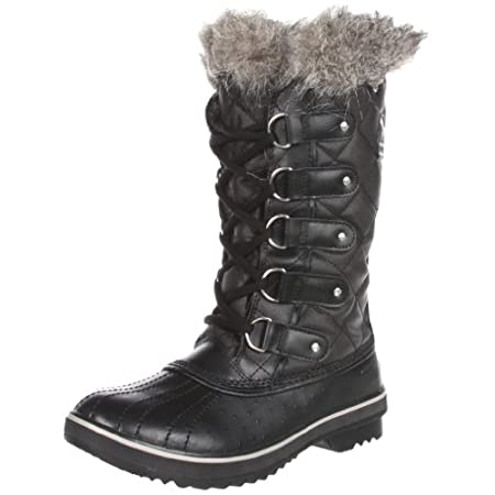 "DECENT FEATURES of the Sorel Women's Tofino Boot Waterproof construction Waxed canvas upper with leather overlays Leather shell The SPECS Weight: 21.3 oz / 604 g Shaft Height: 12.75"" / 32.5 cm"