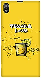 The Racoon Grip printed designer hard back mobile phone case cover for Sony Xperia Z1. (Lemon Tequ)