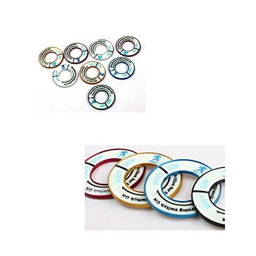 PolarLander-interruttore-cerchio-copertura-Adesivi-Auto-lega-di-alluminio-Accessori-Chiave-di-avviamento-decorazioni-RingAuto-protezione-per-P-eugeot
