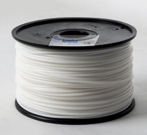 Jet - ABS (1.75mm, White color, 1.0kg =2.204lbs) Filament on Spool for 3D Printer MakerBot RepRap MakerGear Ultimaker & Up!