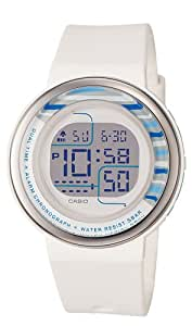 Casio Women's LDF30-7B Digital White Round Resin Strap Watch