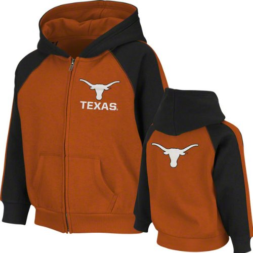 NCAA Unisex Child Texas Longhorns Kids Snap Full-Zip Hoodie (Texas Orange, X-Large) at Amazon.com