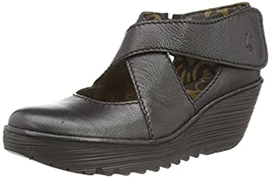 Fly London Yogo, Sandales Femme - Noir (black Mousse), 36 EU