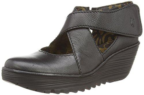 Fly London Yogo - Zapatos de tacón, color Black Mousse, talla 42