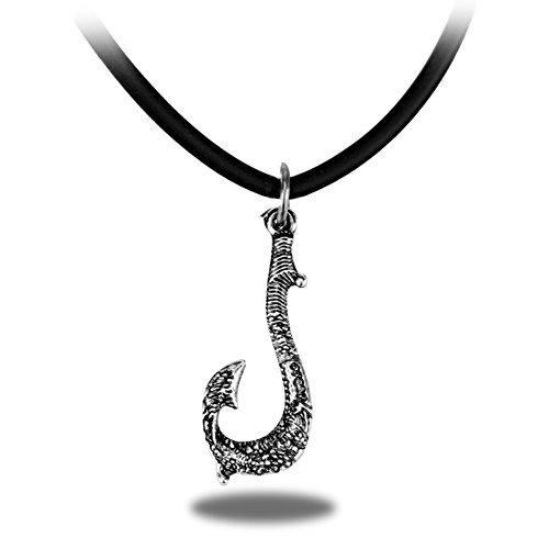 Fish Hook Maui Necklace Silver